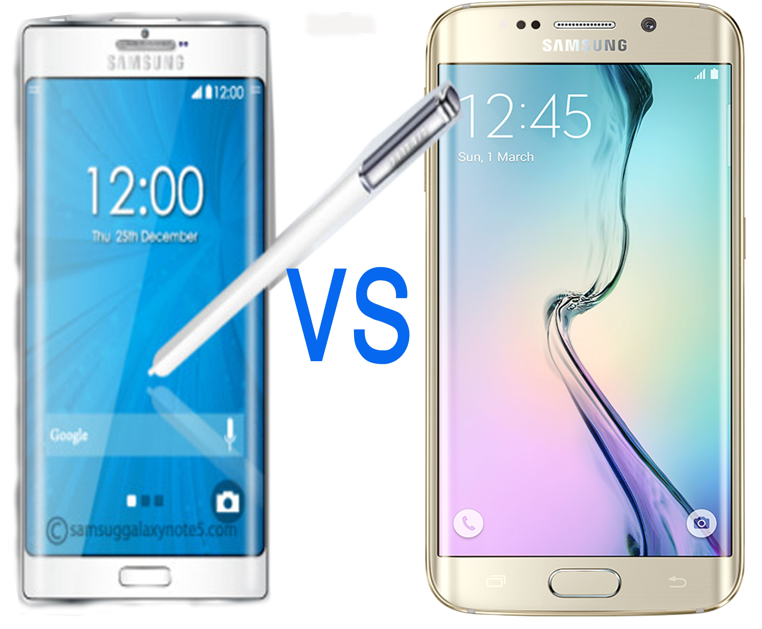 Samsung Note5 Vs Samsung S6 edge