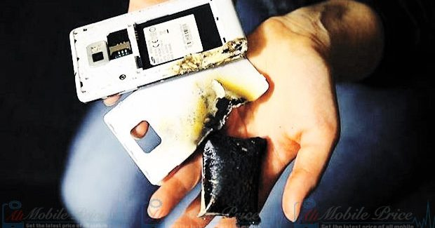 smartphone battery explosion